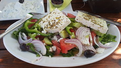 Lunch time (In Explore) (Steenjep) Tags: samos holiday ferie kokkari greeksalad lunch greece