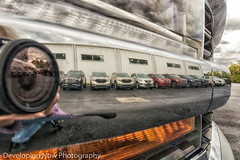 Creative Angle (nywheels) Tags: truck reflection reflections building cars bumper sky clouds nikond7100