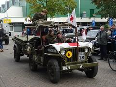 HL-71-79 Willys Jeep 1945 / 1975 (RDW) opstelterrein optocht Bokbierdag 2016 Zutphen (willemalink) Tags: hl7179 willys jeep 1945 1975 rdw opstelterrein optocht bokbierdag 2016 zutphen