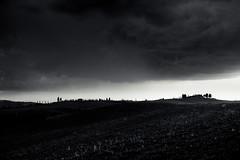 (trevis_lu) Tags: photo landscape paesaggio bianconero blackwhite toscana tuscany cretesenesi hills colline nuvole clouds nikondf nikkor50mmf14