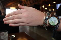Waitress Brittney...AGAIN! (Windy City X-Pat) Tags: woman girl hand lefthand waitress watch wristwatch bracelets bracelet