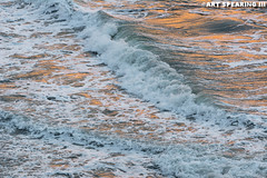 Garden City Beach Waves At Sunset (freshairphoto) Tags: sunset orange beach garden city south carolina artspearing nikon d7100 200500 zoom hand held