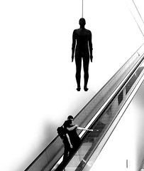 Suspended Animation (canonsnapper) Tags: nationalportraitgallery anthonygormley street streetphotography candid olympusomdem5
