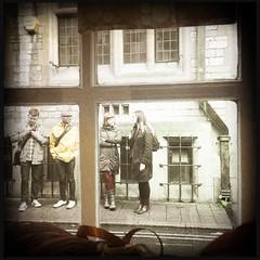 'grammers (breakbeat) Tags: hipstamatic oxford instameet instagrammeetup photowalk city hipstamaticapp darnitandstitch sewingshop knitting yarn haberdashery instagrammers people waiting window view