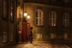 Royal Guard (karinavera) Tags: travel nikond5300 palace lights street longexposure denmark night royalguard danmark copenhagen