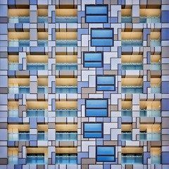 Urban Quilt (Paul Brouns) Tags: architecture architectuur architektur abstractarchitecture abstract abstrakt square quilt patches patchwork urban london england balcony balconies windows facade abstraction light reflection great britain uk paulbrouns paulbrounscom paul brouns art