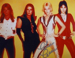 The Runaways Cherie Currie Autograph (trinacolada world) Tags: runaways band cherie curry joan jett lita ford autographed musician vinage rock