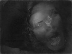 SCREAM (MacroMarcie) Tags: hereios shocktober me macromarcie longexposure blur motion october horror fright hcs clichesaturday texture frenchkiss 365 project365 selfie selfportrait iphone7plus iphone7 noise grain