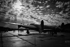 RAF East Kirkby Lincolnshire 18th October 2016 (loose_grip_99) Tags: eastmidlands eastkirkby lincolnshire blackwhite raf airfield aerodrome wwii avro lancaster aircraft plane noiretblanc justjane england uk october 2016 nx611