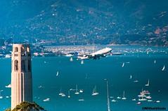 Fleet week SF (Withattitude_R) Tags: united boeing sanfrancisco fleetweek coittower blueangels baybridge pacific scenic ocean