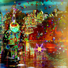 There's magic in the air (Lemon~art) Tags: stars magic magician wizard castle palace river fun manipulation kaleidoscope