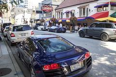 Combo (Hertj94 Photography) Tags: combo audi r8 v10 coupe lamborghini aventador lp700 4 pirelli edition ferrari 458 spider chicago illinois downtown gold coast rush st canon t3 july 2016