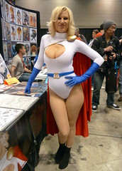 18 (GabboT) Tags: chicago girl nicole costume comic play power expo cosplay cara entertainment convention cleavage cos con powergirl c2e2 2013 caranicole