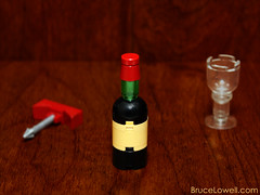Mini Wine Bottle (bruceywan) Tags: glass screw bottle lego wine cork photostream cabernet sauvignon moc ib3 ironbuilder brucelowellcom ibbl3