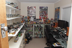 room shot (s4turn17) Tags: corgi lego transformers snoopy planes smurfs matchbox diecasts toyroom