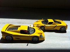 Supercars (Scuderia Phoenicia's Hobby and Die-cast models) Tags: red yellow grey model photoshoot ferrari collection enzo lamborghini lineup murcielago fabbri f50 143 minichamps fxx reventon hachette lp640 altaya 599xx