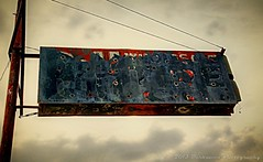 THE OLD SIGN (Darkmoon Photography) Tags: urban texture oklahoma downtown decay rusty gimp weathered shadowbox okc crusty corroded darkmoon jerryjones