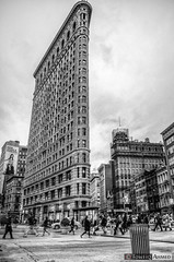 The Flatiron Building (Towfiq Ahmed) Tags: new york city nyc bw white black building architecture photography nikon flickr downtown manhattan district ahmed flatiron hdr d90 towfiq towfiqahmed