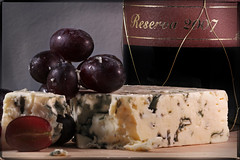 Danish Blue (Trudie S) Tags: cheese wine textures grapes layers