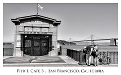 San Francisco [0490] (Virtual Creativity) Tags: sf california ca bridge b bw port 1 golden pier gate san francisco couple tourist embarcadero
