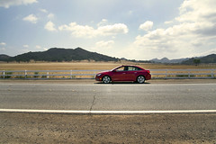 A Chevy Cruze in California (B. R. Murphy) Tags: california red chevrolet sedan nikon automobile cruze d600