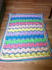 Kenda Krochet (The Crochet Crowd) Tags: ripple crochet mikey yarn blanket afghan april redheart chevron challenge freepattern 2013 freecrochetpattern thecrochetcrowd oceanoceanwavesafghan