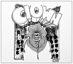 Clown (inklines) Tags: blackandwhite art illustration comics drawing clown cartoon comix penandink uploaded:by=flickrmobile flickriosapp:filter=nofilter