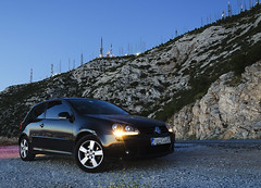 Golf @ Ymittos (and641) Tags: sunset vw golf athens greece ymittos