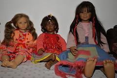 My Annette Himstedt sisters (specially for Mel !) (tatika2mag) Tags: annettehimstedt fiene ayoka mugi sanga artistdoll child