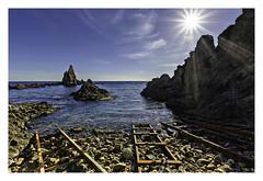 Arrecife de Las Sirenas-( Cabo de Gata -Almeria) (RAMUBA) Tags: cabo de gata almeria españa mar seal sun sol arrecife las sirenas contraluz backlight