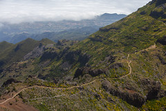 The Path (Katka S.) Tags: madeira island portugal nature national park pico ruivo aireiro mountains hills steep clouds above sea