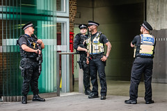 Police (jonron239) Tags: london police expression laughing gesture armed firearms