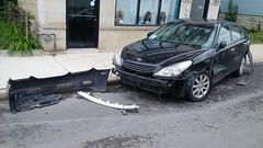 Smashed Lexus #3 (artistmac) Tags: chicago il illinois city urban street car automobile luxury lexus es sedan wrecked accident bumper facia canaryville 47thstreet