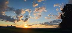 2016_0827Sunset-Pano0002 (maineman152 (Lou)) Tags: panorama sun sunset settingsun clouds cloudsatsunset sunsetclouds sky skycolor skycolors skyscape skyscene skyview skydrama summersky nature naturephoto naturephotography landscape landscapephoto landscapephotography summer august maine