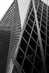 Seattle Public Library (Dave Stromberger) Tags: library washington seattlepubliclibrary seattle architecture blackandwhite monochrome abstract lines buildingstructure building geometric pattern
