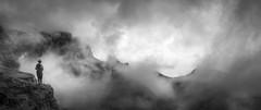 Quiraing Mist (kris greenwell) Tags: isleofskye adventure cliffs clouds d7100 dramatic hiking krisgreenwellphotography landscape mono nikon peak quiraing rockformations rocks rugged scotland sigma sky travel uk walker wideangle