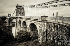 Holidays?, that's history ! (BrynnAvon) Tags: path 2descriptors landscape bridge 3subject clouds hdr bw urban pentax sky transportation afternoon architecture ways ba54 road 1specs k5