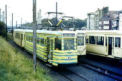 Slide 071-17 (Steve Guess) Tags: tram tramway streetcar strassenbahn strasenbahn  belgium belgique belgien belgi  flanders flandre flandern  nmvb sncv vicinal oostende ostend