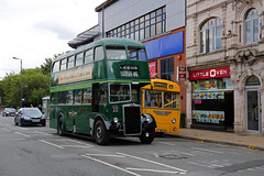 UUA 212 & RRU 903 (keith-v) Tags: leeds city transport pd2 uua 212 passing bournemouth corporation leyland tiger cub rru 903 during 2016 running day