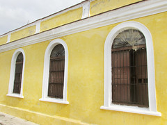 Yellow Buildings (shaire productions) Tags: cuba image picture photo photograph travel street urban world traveler cuban caribbean island yellow buildings exterior