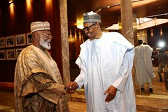 President Buhari receives in audience H.E. Abdulsalam Abubakar Former Head of State in Statehouse