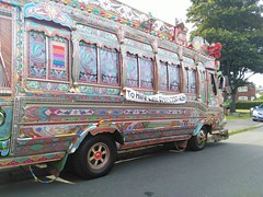 Indian Bus (Chris.,) Tags: art artists brightlycoloured bus creativecommons4 customart england indian indianwedding jinglebus multicoloured painting pakistan pakistanwedding rotherham southyorkshire tradition traditional truck uk wedding