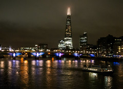 Misty Shard and Reflective River Thames (cocabeenslinky) Tags: misty shard reflective river thames night shot water september 2016 tower of london bridge tallest europe skyscraper architecture glass building southbank waterloo quarter bus train guys trainline station sellar group shangrila hotel renzo piano workshop adamson associates vertical city observatory restaurant office construction se1 southwark cocabeenslinky england united kingdom uk time lights reflections buildings