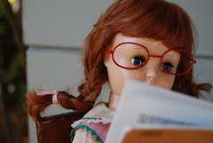 Back to School (Emily1957) Tags: tonidoll toni hardplastic dolls doll toys toy schoolgirl glasses light naturallight nikond40 nikon kitlens l braid braids plait plaits pigtail pigtails