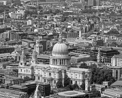 St Pauls and London (Nigel Gresley) Tags: london saint paul cathedral shard black white city urban landscapes