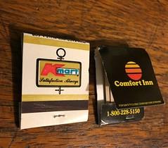 80s logo matches Kmart & Comfort Inn (SlantedEnchanted) Tags: 80s ad advertisement matches comfortinn kmart