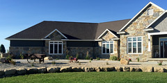Shady Oak, Buff Gray Castle Rock, Midnight Castle Rock, and Chilton Rustic (Buechel Stone) Tags: naturalstone buildingstone stoneveneer thinveneer fullveneer stone buechelstone stoneexterior stonemasonry stoneandsiding stonehome stoneveneerexterior exteriorstoneveneer customstone customblend
