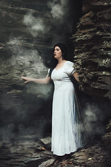 You Can't Find Yourself With the Lights Off (Furcifer07) Tags: smoke fog dust bomb white dress model girl wallpaper canon 5d mark iii wgfg2016 watkins glen new york september autumn cave cavern ghost lost scared fear claustrophobic hollows skull voice cool air contrast protrait portrait portraiture porcelain ponder concept conceptual poetry poem lorenschmidt light seeking searching