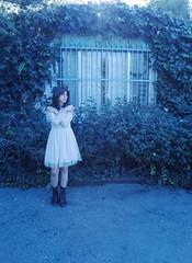 (Vanessa Curiel) Tags: portrait girl fear sun light plants white