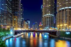 Bataan-Corregidor Memorial Bridge, Chicago (Shibu Thannikkunnath) Tags: chicago bridges night slowshutter longexposure nikon fullframe 24f28 24mm